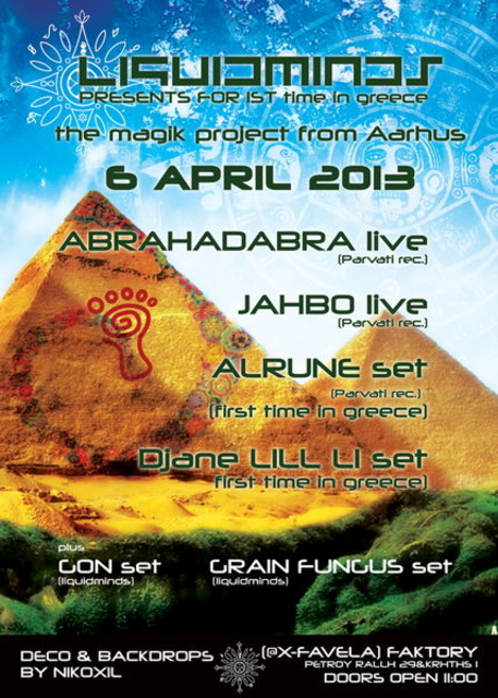 Party Flyer LIQUIDMINDS presents PARVATI session in athens 6 Apr '13, 23:00