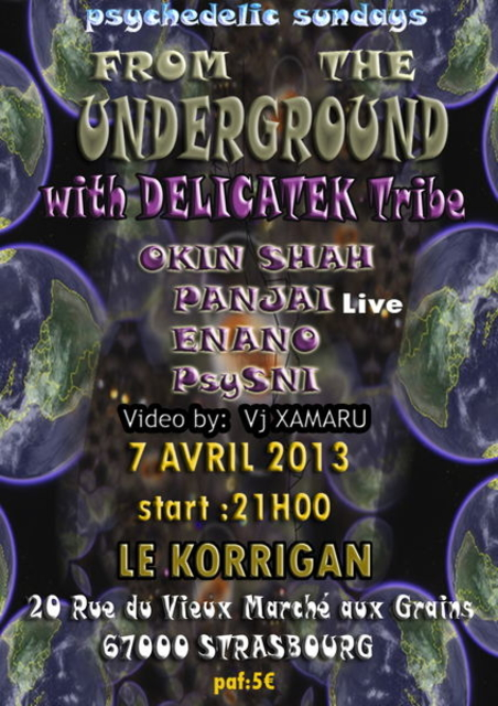 Party Flyer FROM THE UNDERGROUND 7 Apr '13, 21:00