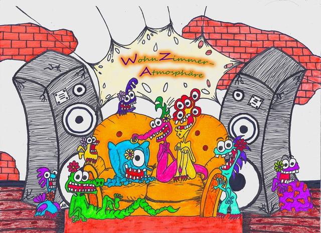 Party Flyer WohnZimmerAtmosphäre trifft SpaceSunNight 7 Apr '13, 14:00