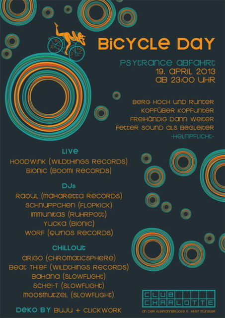 Party Flyer BicycleDay 2013 19 Apr '13, 23:00