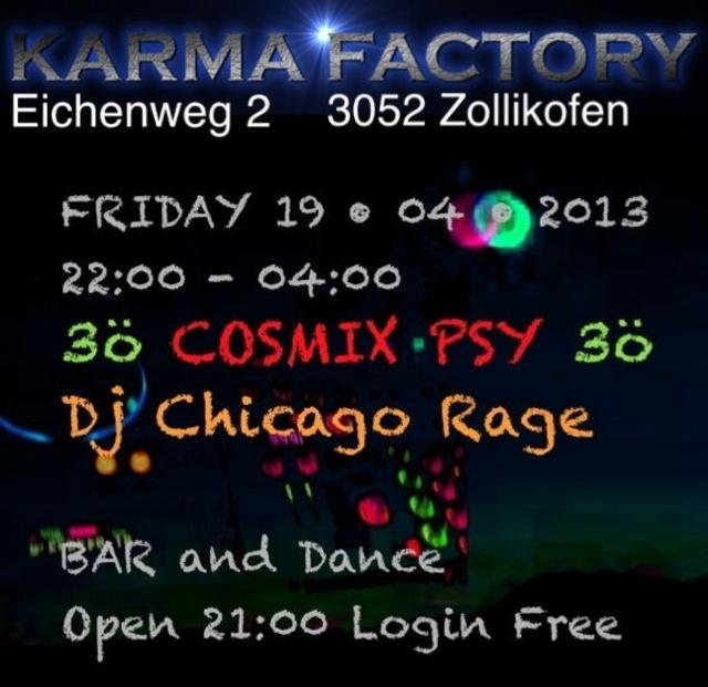 Party Flyer Cosmix Psy 19 Apr '13, 22:00