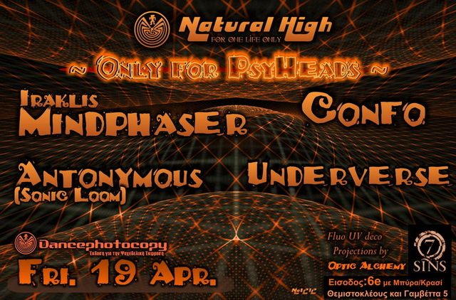 Party Flyer Natural High(nat212) ~ Only for Psyheads ~ 19 Apr '13, 23:30