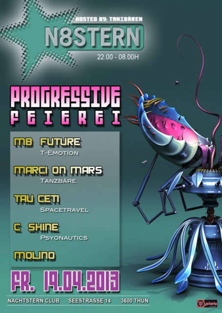 Party Flyer Progressive Feierei 19 Apr '13, 22:00
