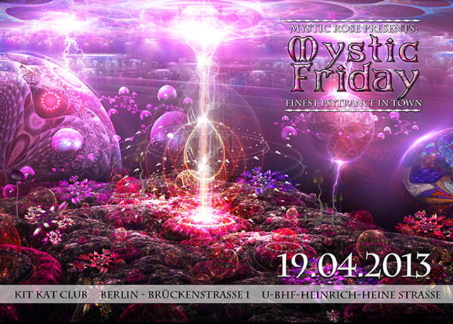 Party Flyer The Mystic Friday - the Master session 19 Apr '13, 23:00