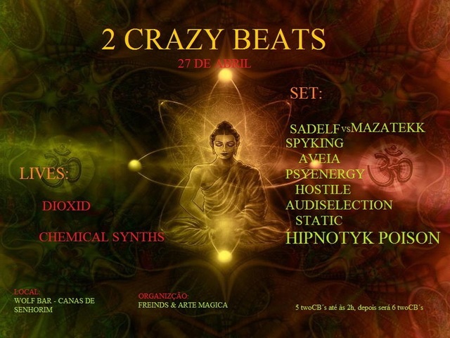 Party Flyer 2 Crazy Beats 27 Apr '13, 23:30