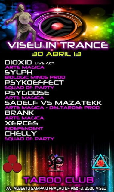 Party Flyer Viseu in Trance 30 Apr '13, 23:00