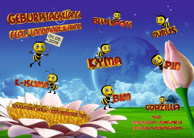 Party Flyer Geburtstagsklänge feat. Landmark & Friends 4 May '13, 23:00