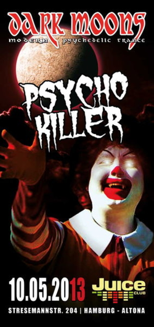 Party Flyer DARK MOONS - PSYCHO KILLER 10 May '13, 23:00