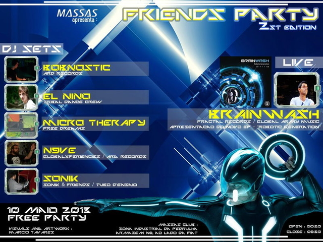 Party Flyer Friends Party II 10 May '13, 23:30
