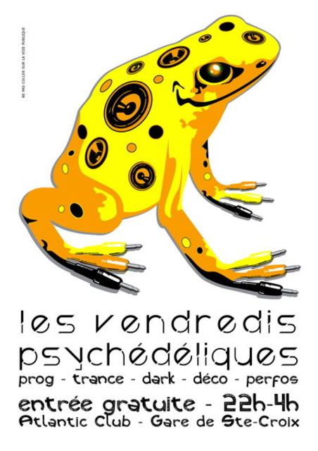 Party Flyer Les Vendredis Psychédéliques - 10 mai - Nouvelle Lune Taureau 10 May '13, 22:00