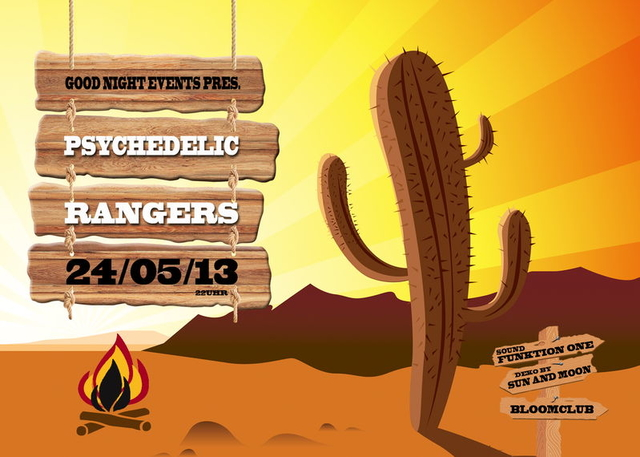 Party Flyer Psychedelic Rangers with FUNKTION ONE SOUNDSYSTEM 24 May '13, 22:00