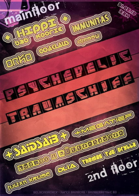 Party Flyer Psychedelic Traumschiff - Part2 31 May '13, 22:00
