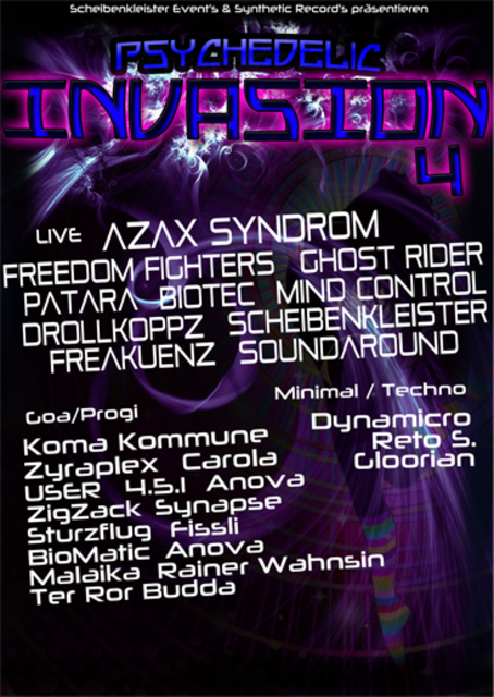 Psychedelic Invasion Part 4 Live: Azax Syndrom,Freedom Fighters,Ghost Rider 1 Jun '13, 18:00