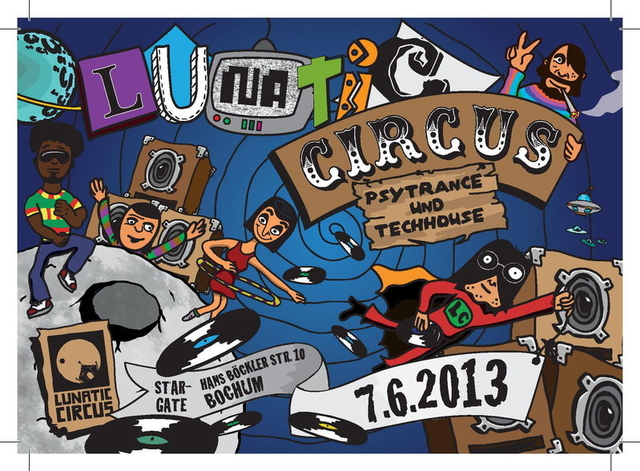 Party Flyer Lunatic-Circus 7 Jun '13, 22:00