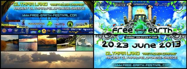 Party Flyer FREE EARTH FESTIVAL 2013 20 Jun '13, 22:00