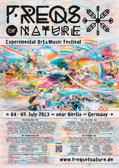 Party Flyer Fullmoon-Festival presents: FREQS OF NATURE 04>09 JULY 2013 4 Jul '13, 23:30