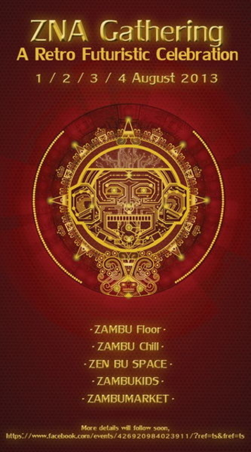 Party Flyer ZNA Gathering 1 Aug '13, 22:00
