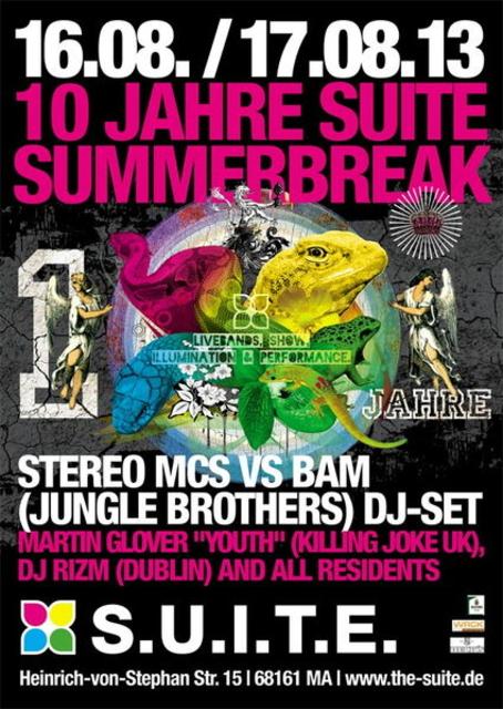 Party Flyer SUITE SUMMERBREAK - 10 Jahre SUITE 16 Aug '13, 23:00
