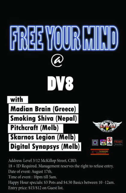 Party Flyer FREE YOUR MIND 17 Aug '13, 22:00