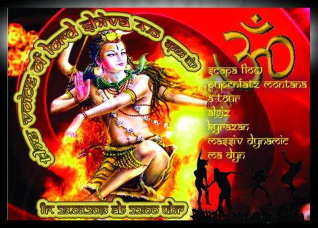 Party Flyer The Voice of Lord Shiva 2013 23 Aug '13, 22:00