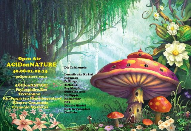 Party Flyer ૐACIDonNATUREૐ 30 Aug '13, 19:00