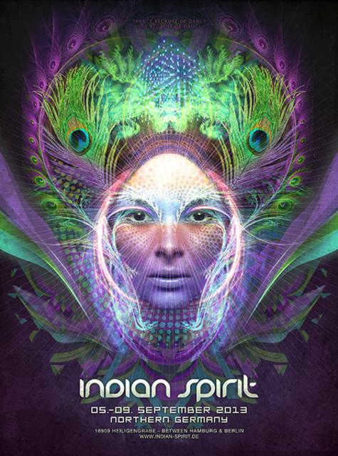 Party Flyer Indian Spirit Festival 3D 5 Sep '13, 12:00