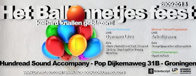 Party Flyer Het Ballonnetjes Feest · keihard knallen geblazen!! 28 Sep '13, 23:00