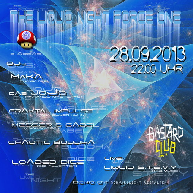 Party Flyer The Liquid Night Force One 28 Sep '13, 22:00