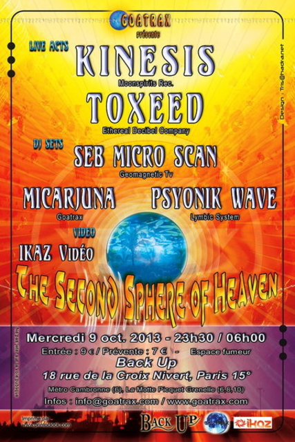 THE SECOND SPHERE OF HEAVEN 9 Oct '13, 23:30