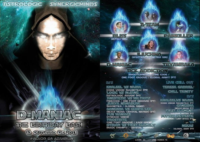 Astrologic & Synergic Minds D_MANIAC BIRTHDAY BASH 12 Oct '13, 22:00