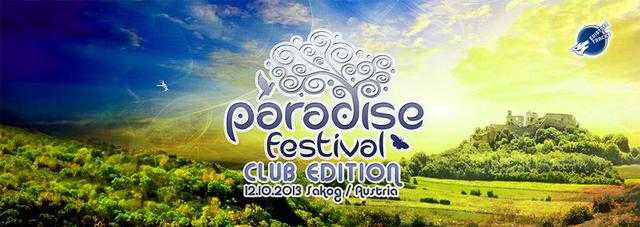 Party Flyer PARADISE FESTIVAL Club Edition: DJ Chicago-1200 MICs, U-Recken, Krama 12 Oct '13, 21:00