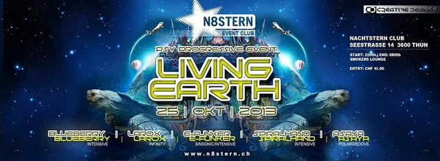 Party Flyer LIVING EARTH 25 Oct '13, 22:00