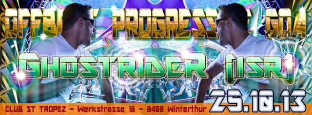 Party Flyer ॐ OFFBEAT PROGRESSIVE GOA ((MAXIMAL4)) - Club ST. TROPEZ in Winterthur 25 Oct '13, 22:00