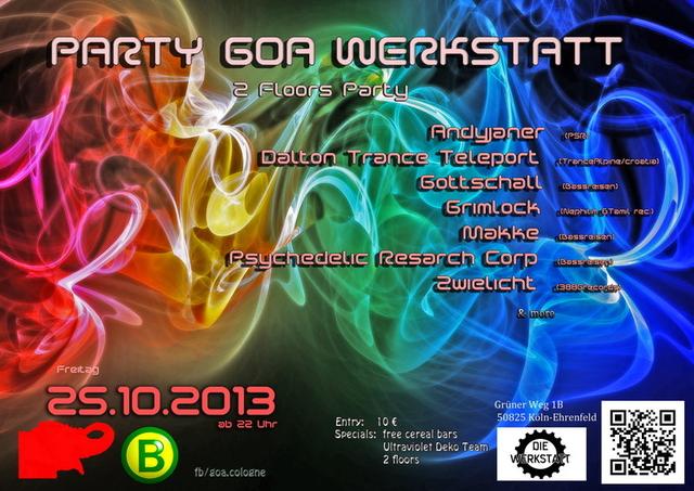 Party Flyer Party Goa Werkstatt 25 Oct '13, 22:00