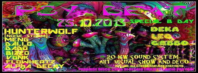Party Flyer *´¨`*☆.PSY BEAT*´¨`*☆. 25.10.2013 ☆Progressive\\Goa Party☆ DALLO//MENG// +++++++ 25 Oct '13, 22:30