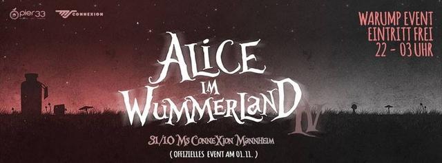 Party Flyer Alice im Wummerland - Warmup (Eintritt frei) 31 Oct '13, 22:00