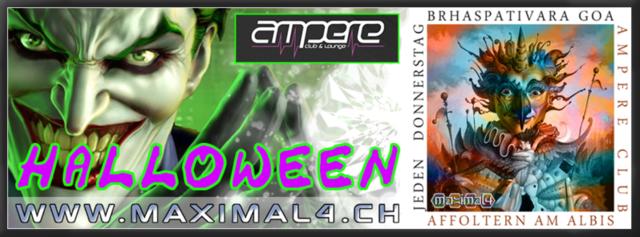 Party Flyer CLUB AMPERE - BRHASPATIVARA GOA - Affoltern Am Albis 31 Oct '13, 22:00
