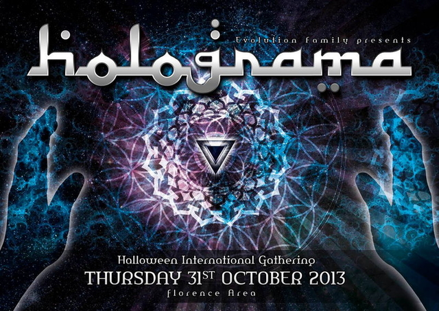 Party Flyer * HOLOGRAMA II° EDITION * 31 Oct '13, 22:00