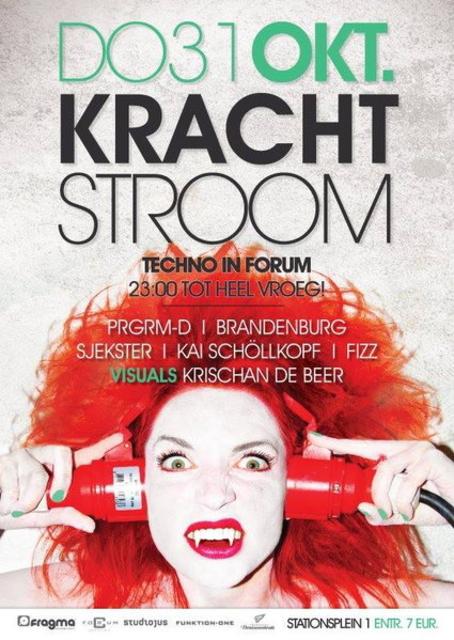 Party Flyer KRACHTSTROOM 31 Oct '13, 23:00