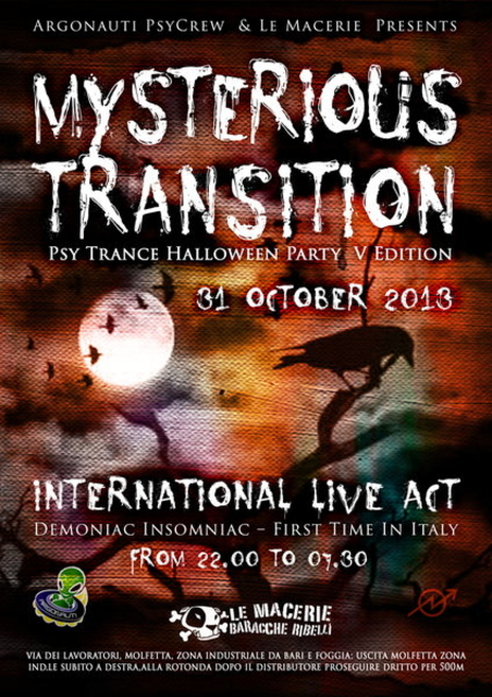 Party Flyer MYSTERIOUS TRANSITION - Halloween Party_V Edition + AFTER 31 Oct '13, 22:00