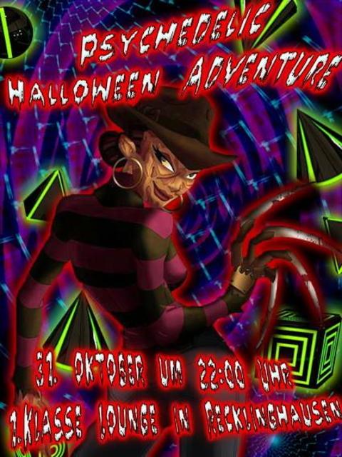 Party Flyer ॐPsychedelic Halloween Adventureॐ 31 Oct '13, 22:00