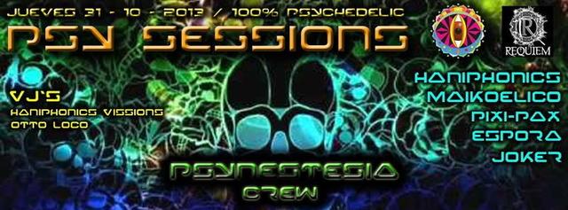 Party Flyer Psy sessions - especial noche De bruj@s 31 Oct '13, 23:30