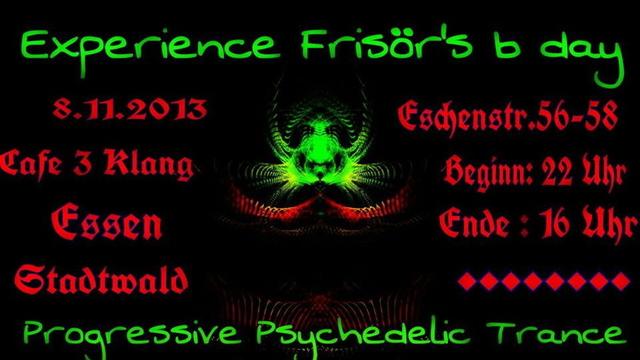Party Flyer Experience B-Day DJ Frisoer 8 Nov '13, 22:00