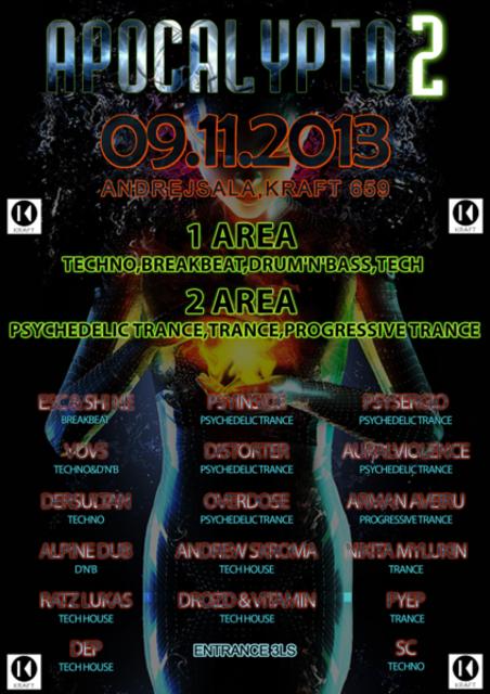 Party Flyer APOCALYPTO 2 9 Nov '13, 23:00