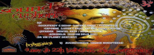 Party Flyer SoundEuphorie *Herbsttanzen* 9 Nov '13, 22:00