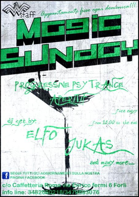 Party Flyer >>Magic Sunday<< Progressive Psy Trance Aperitif 10 Nov '13, 18:00