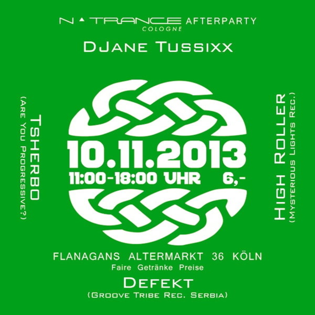 Party Flyer NTrance After Party 10 Nov '13, 11:00