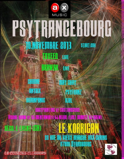 Party Flyer PSYTRANCEBOURG 10 Nov '13, 20:00