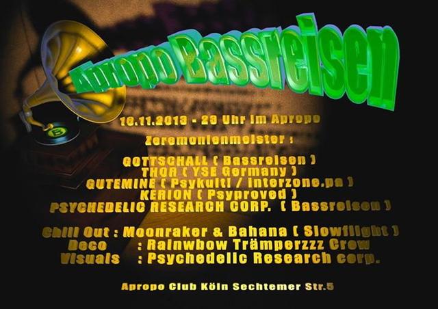 Party Flyer APROPO BASSREISEN 16 Nov '13, 23:00
