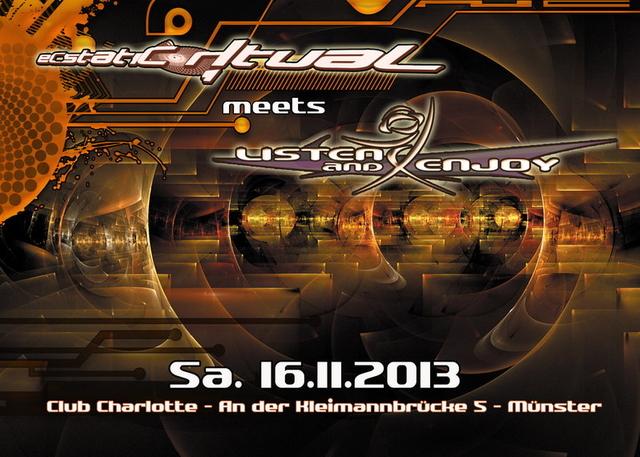 Party Flyer ECSTATIC RITUAL meets LISTEN & ENJOY 16 Nov '13, 23:00